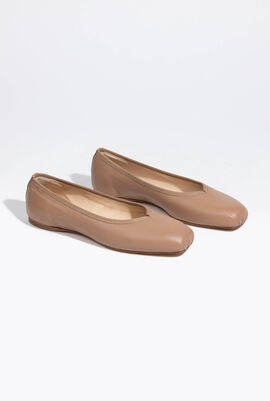 Solid Leather Ballerina