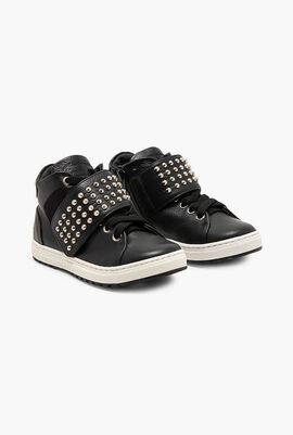 Studded High-Cut Sneakers