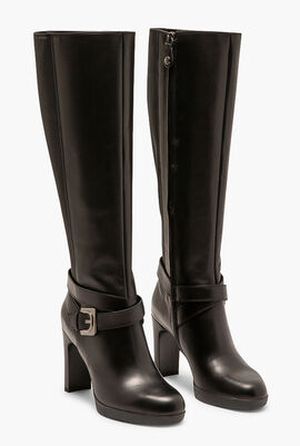 Annya Leather Knee High Boots