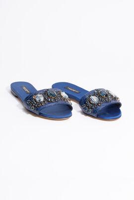 Stone Embellished Slip-on