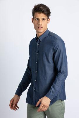 Regular Fit Texturized Poplin Shirt