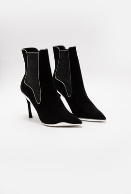 Pointed Toe Suede Ankle Boots
