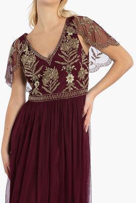 Beaded Top Tulle Btm Gown