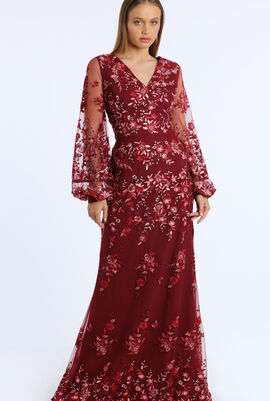 Floral Embroidered Design Dress