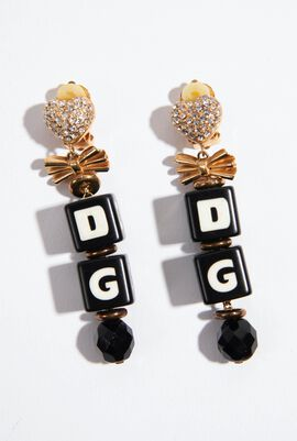 Logo Dice Drop Earrings