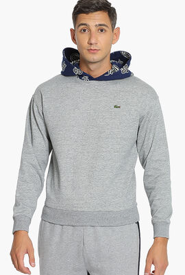 Lacoste L!ve Contrast Hoodie Sweatshirt