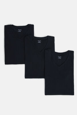 Classic Fit 3 Pack V-Neck T-Shirts