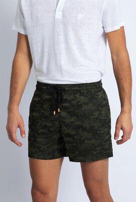 Moorise Khaki Camouflage Swim Trunks