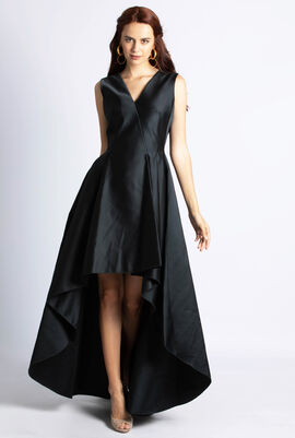Duchesse Short Front Gown Dress