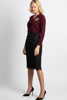 Bucharest Floral Lace Skirt
