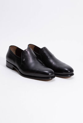 Avery Black Calf Loafers