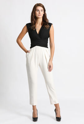Apice Pleated Embellished Jumpsuit