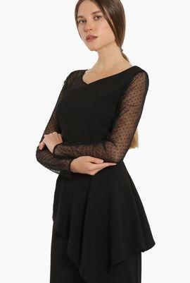 Tulle Long Sleeve Dress