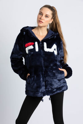 Dolly Fur Oversized Hooded Jacket