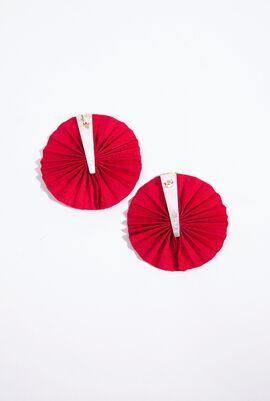 Round Silk fan Earrings