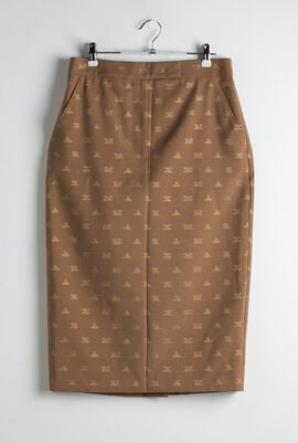 Ridente Jacquard Pencil Skirt