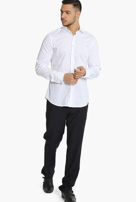 Stretch Dobby Slim Fit Long Sleeves Shirt