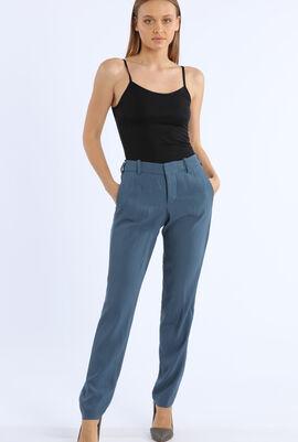 Prune Satin Trousers