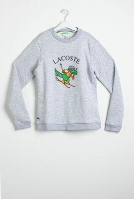 Fun Crocodile Print Fleece Sweatshirt