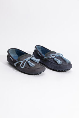 Light blue trimmed Moccasin