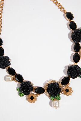 Rose Enamel Charm Necklace