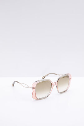Transparent Square Women's Sunglasses