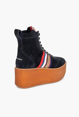 Striped High-Top Platform Sneaker