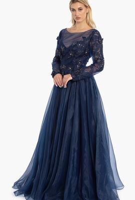 Lace Chiffon BTM Gown