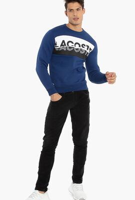 Graphic Print Fleece Sweatshirt