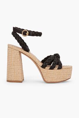 Kea Leather Platform Sandals