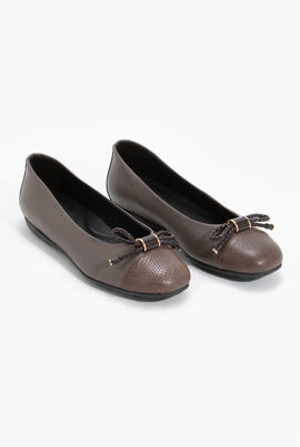 Annytah B Leather Ballet Flats