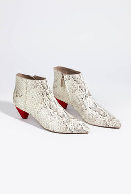 Sofia Snack Print Leather boots