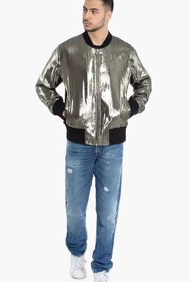 Silk Blend Bomber Jacket
