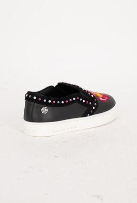 Lea Leather Slip-On Sneakers