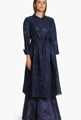 Jacquard Trench Dress