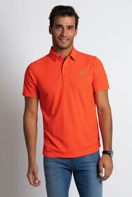 Golf Striped Tech Jersey Polo Shirt