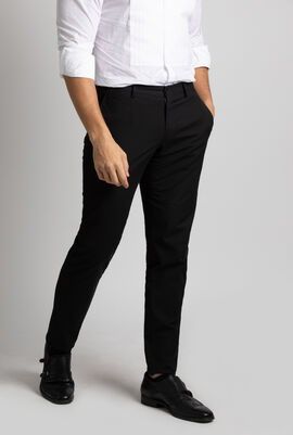Regular Fit Solid Trousers