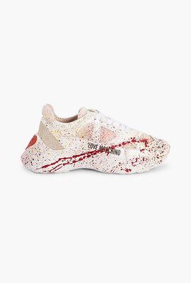 Paint Splatter Low-Top Sneakers