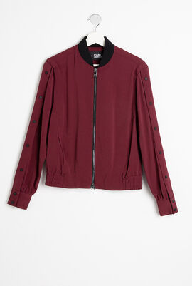 Snap Sleeves Bomber