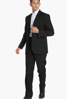 Solid Double Buttoned Suit