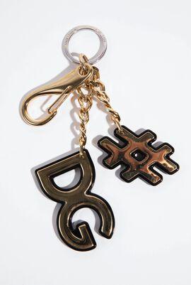 Hashtag Logo Keychain