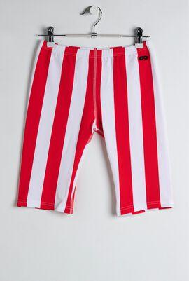 Red Deck Chair Stripe Swim Shorts