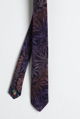 Narrow Leave Purple Tie