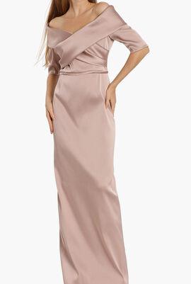 Off-Shoulder Evening Dress