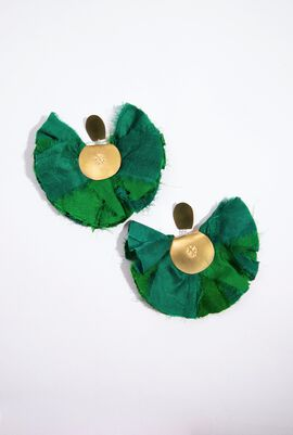 Silky Hand Fan Earrings