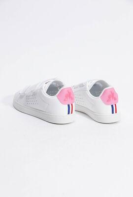 حذاء رياضي بدرجة لون Optical White/Pink Carnation من Courtset PS Sport
