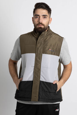 Colour Block Quilted Logo Gilet