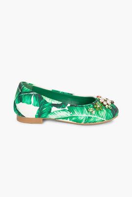 Floral Print Ballerina Flats
