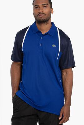 Short Sleeved Ribbed Collar Active Shirt
