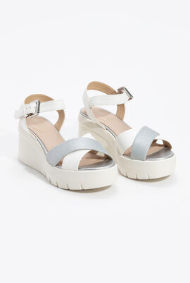 Torrence Leather Wedge Sandals